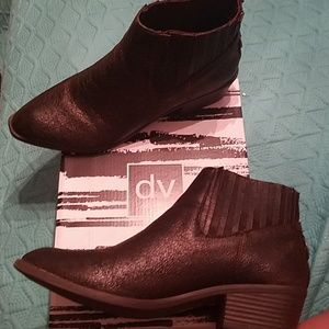 Brown rusticed booties size 10
